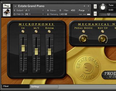 Production Voices Estate Grand Piano